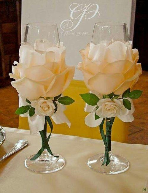 Copas diy con rosas foro manualidades para bodas bodas - Copas decoradas con velas ...