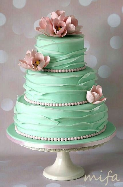 beautiful birthday and wedding cakes pasteles en verde menta foro antes de la boda bodas mx 11204