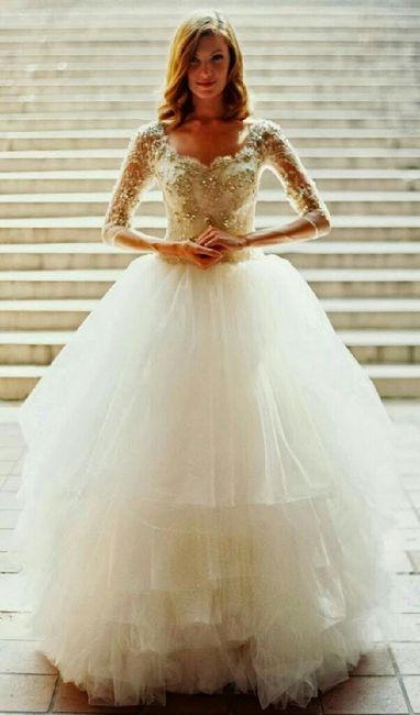 Vestido de novia dorado