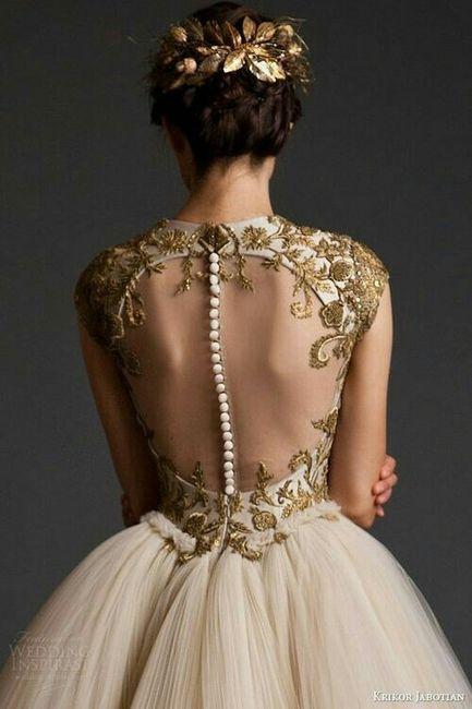 vestidos de novia con dorado - foro moda nupcial - bodas.mx