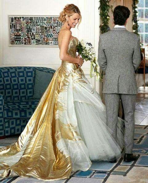 Vestidos de novia dorados 2016