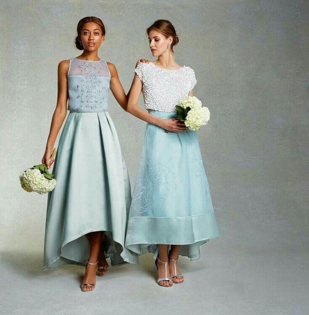 Vestidos para bodas falda y blusa
