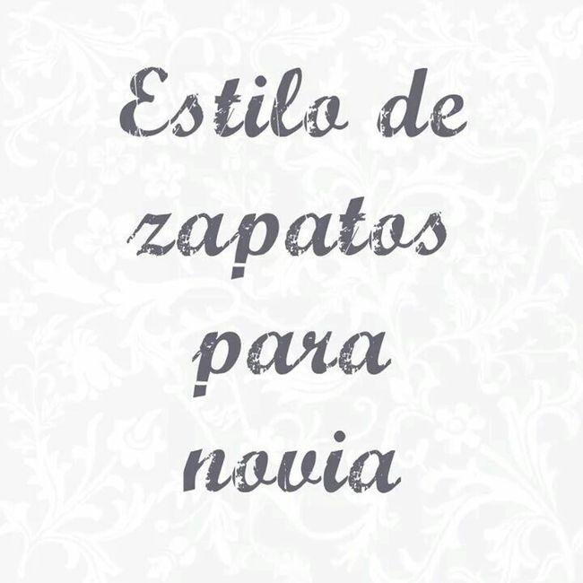 efdc1aaf01 Estilos de zapatos para novia 👰 - Foro Moda Nupcial - bodas.com.mx
