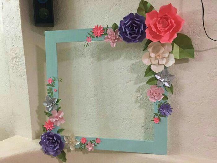 Cuadro de selfie para boda foro antes de la boda - Manualidades decorar marcos para cuadros ...