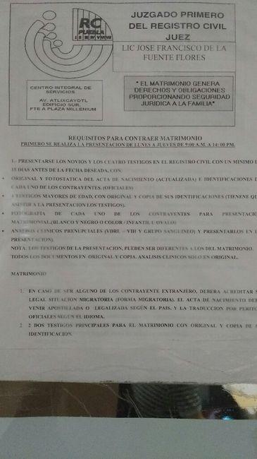 Costos del registro civil en el cis puebla - Foro Puebla - bodas.com.mx