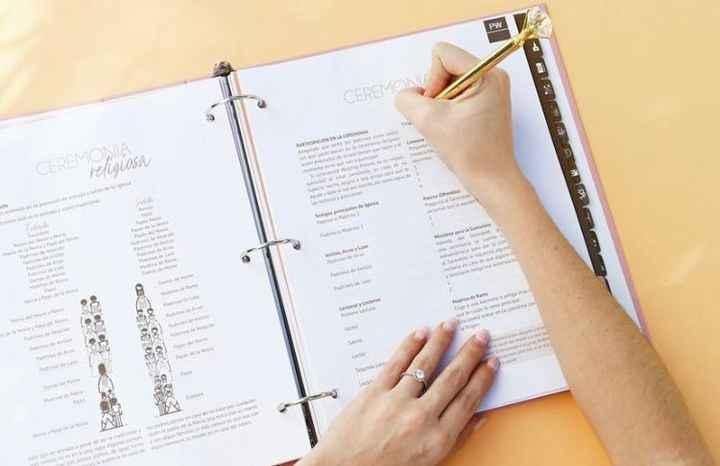 Recomendaciones de planner o agenda de bodas impresa - 4