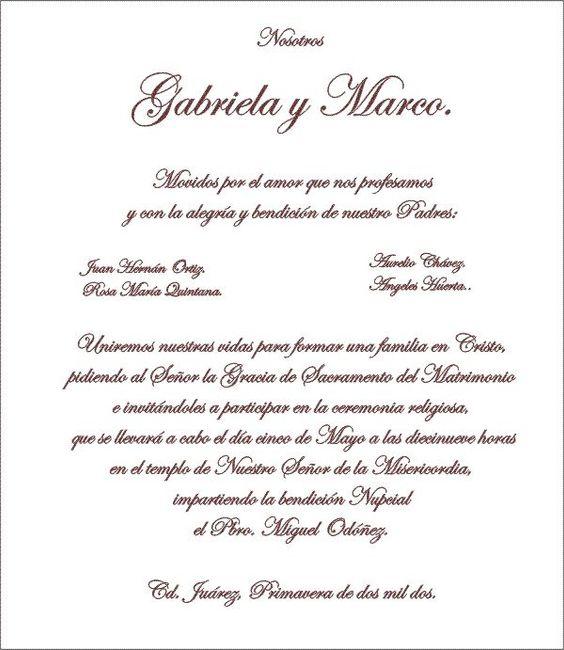 Matrimonio Catolico Y Cristiano : Textos para invitaciones hechas por nosotras foro