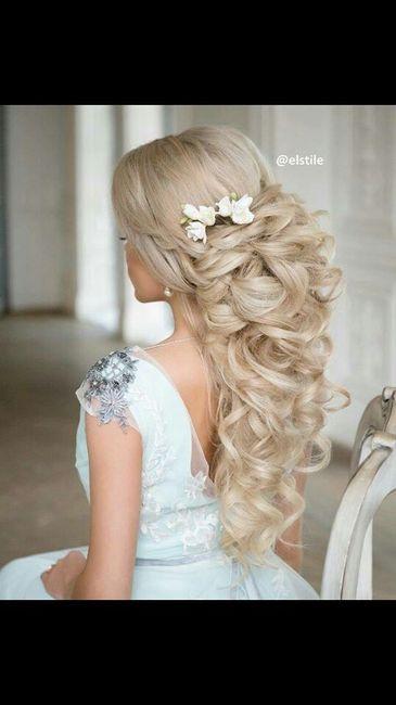 Peinados de cascada para novia