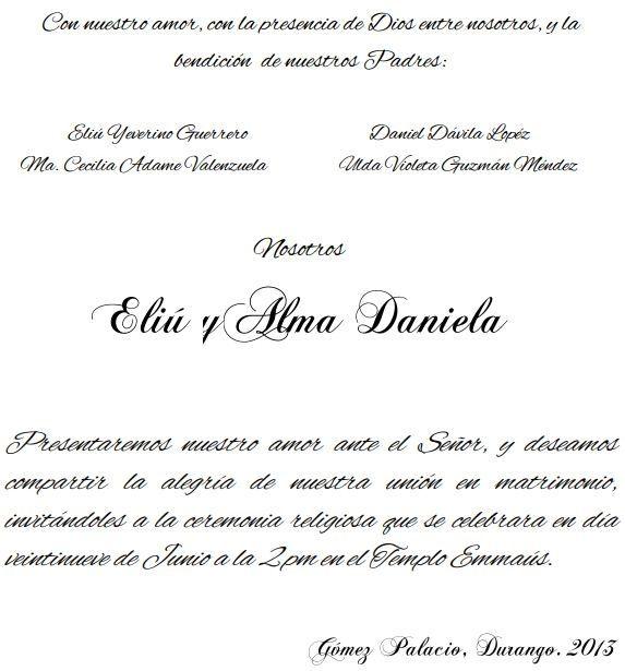 Texto en las invitaciones - Foro Organizar una boda - bodas.com.mx