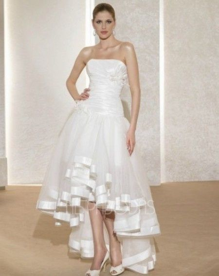 vestidos de novia cortos con cola - foro moda nupcial - bodas.mx