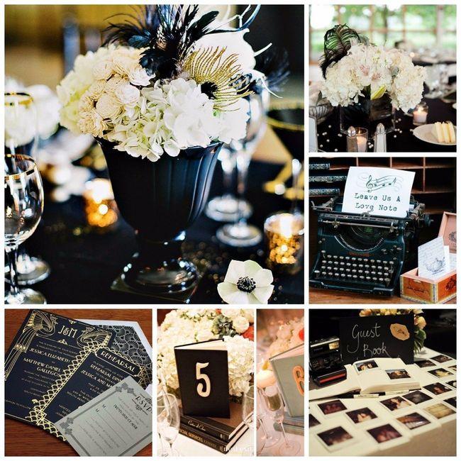 Matrimonio Tema Black And White : Boda temática black and white vintage foro organizar
