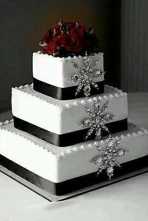 pasteles de boda para navidad