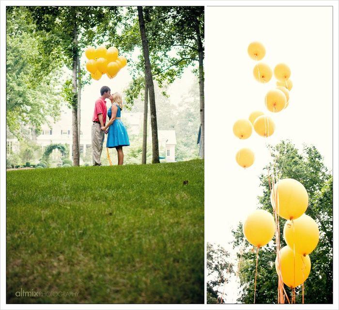 Ideas de fotos con globos!