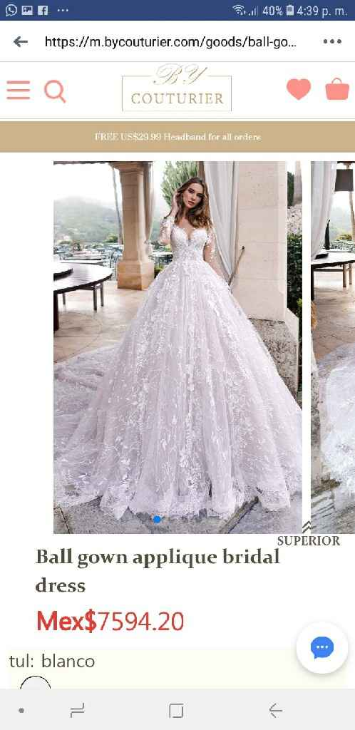 Alguien a comprado su vestido en alguna página de internet? - 1