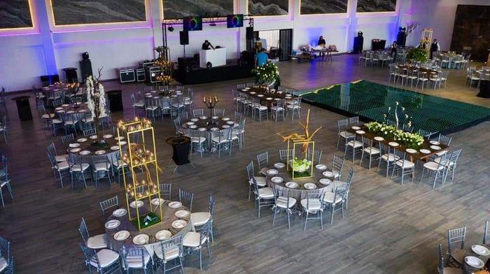 Que tipo de mesas les gusta mas para la recepción ? 1