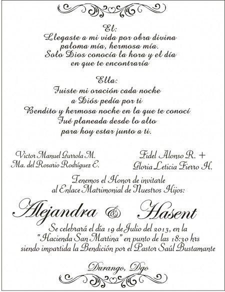 formato para invitacion de boda