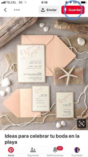 Ideas de invitaciones/ boda en la playa 40