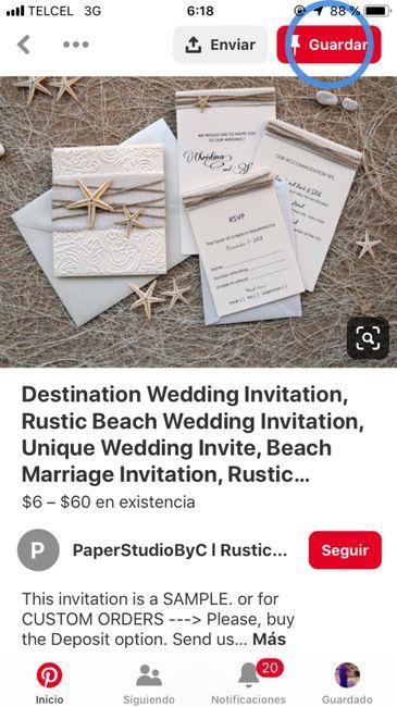 Ideas de invitaciones/ boda en la playa 42