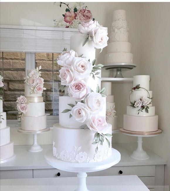 Pasteles de boda con flores 2
