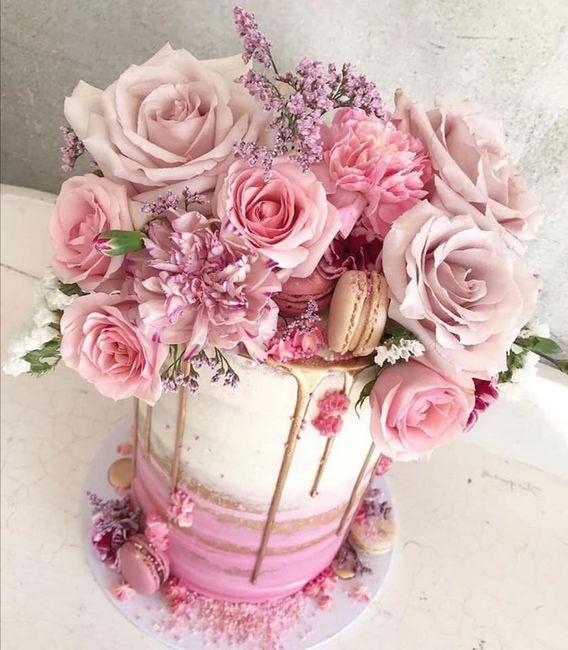 Pasteles de boda con flores 3