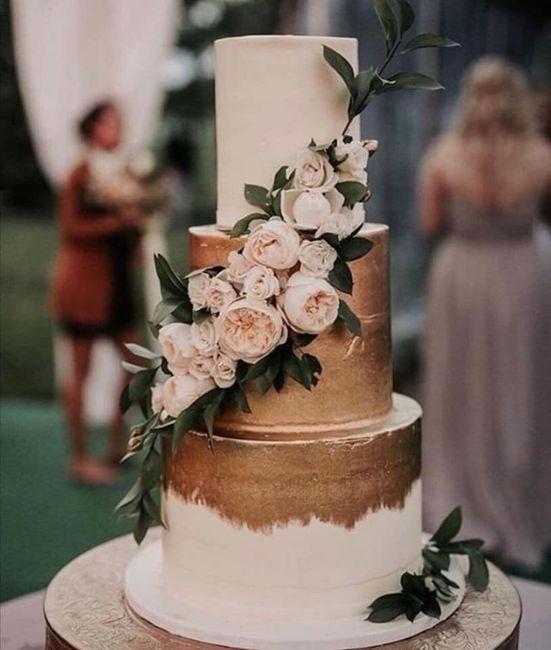 Pasteles de boda con flores 5