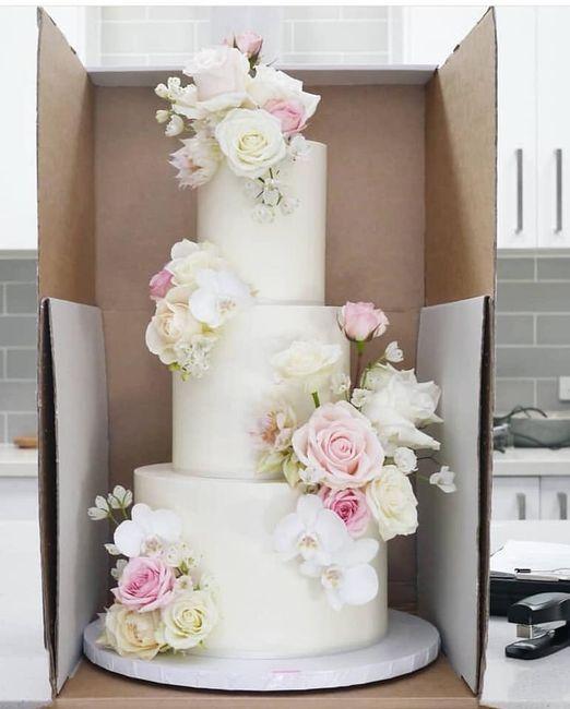 Pasteles de boda con flores 7