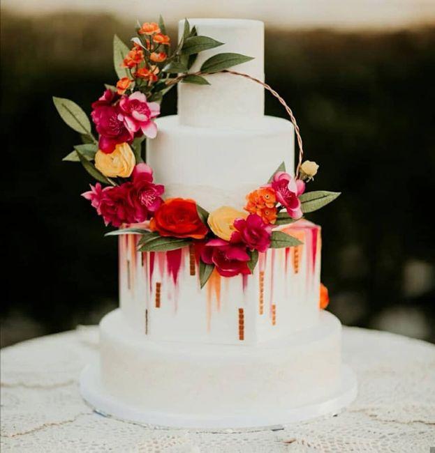 Pasteles de boda con flores 8