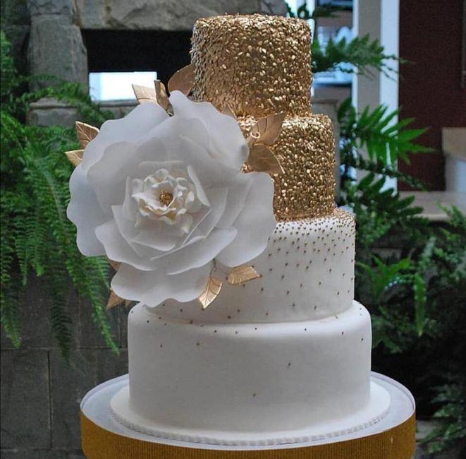 Pasteles de boda con flores 9