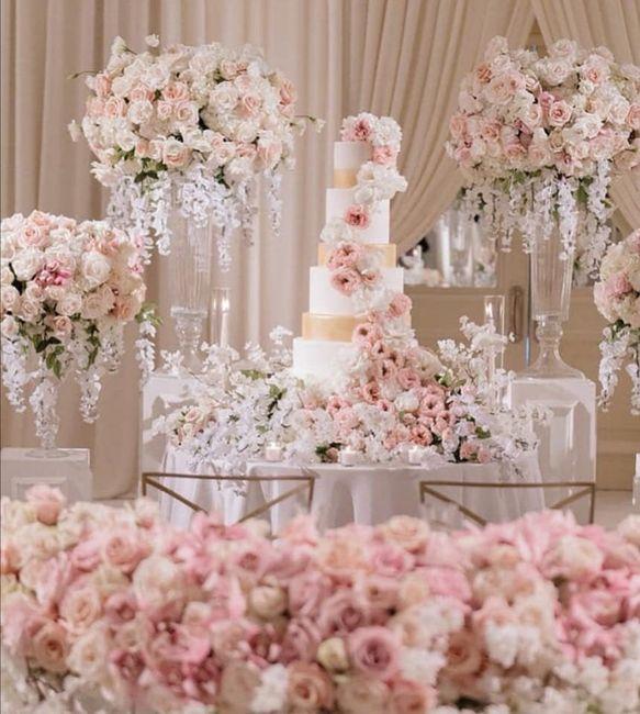 Pasteles de boda con flores 12