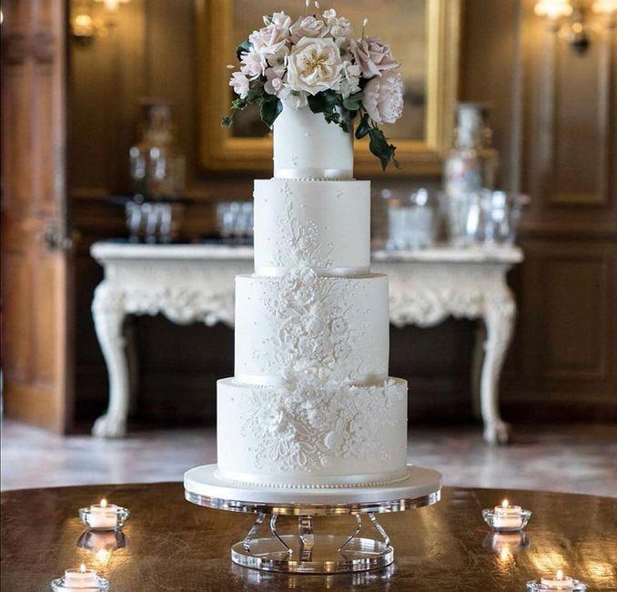 Pasteles de boda con flores 13
