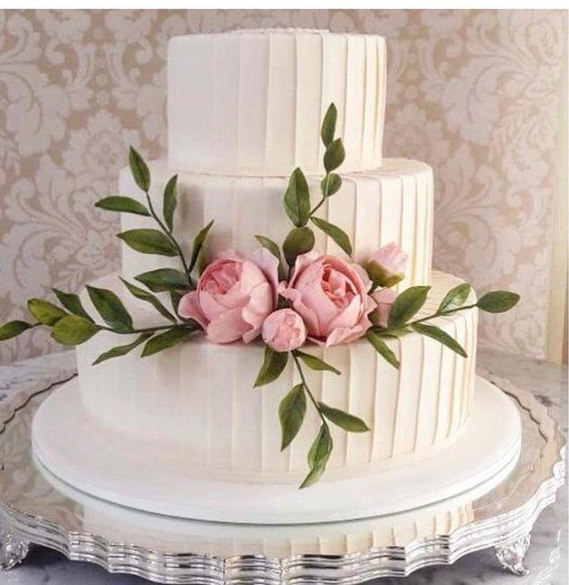 Pasteles de boda con flores 14