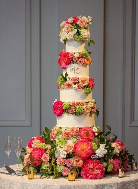Pasteles de boda con flores 16