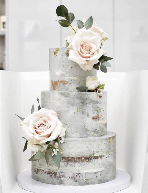 Pasteles de boda con flores 17