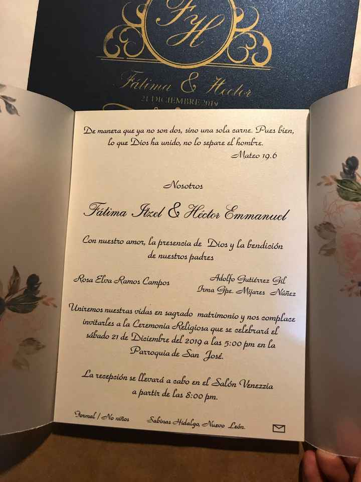Tarjetas de invitación - 1