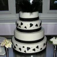 pastel en negro