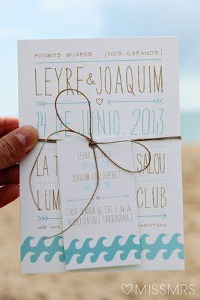Ideas de invitaciones/ boda en la playa 37