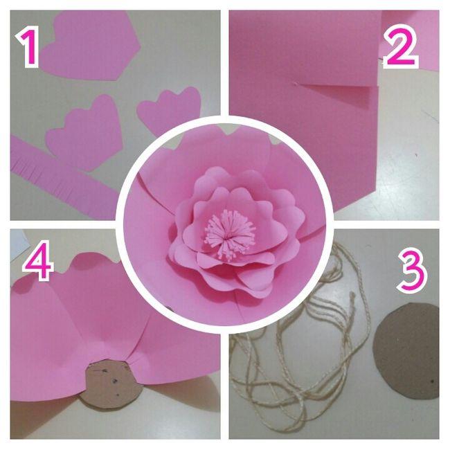 Diy-flores gigantes de papel - 2