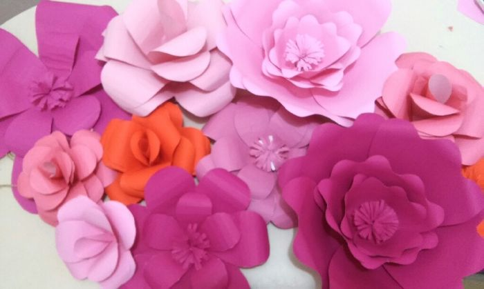 Diy-flores gigantes de papel - 3