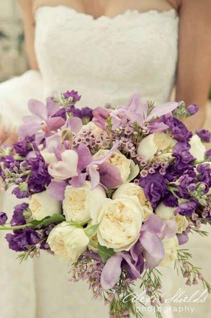 Ramos con flores moradas 🌈💜 - 1