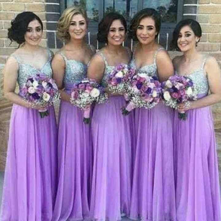 Vestido de damas en color lila! 💜💜 - 1