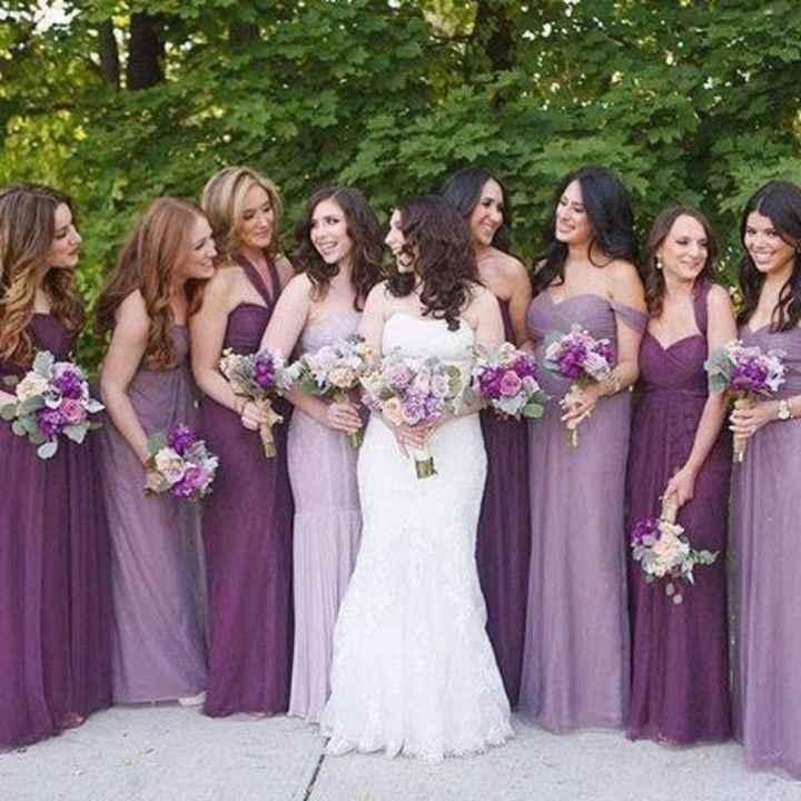 Vestido de damas en color lila! 💜💜 - 4