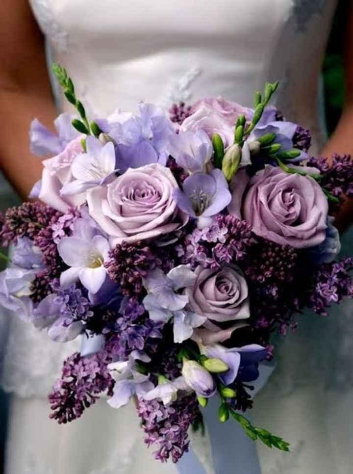 Ramos con flores moradas 🌈💜 - 3