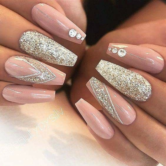 2014 Nail Art Ideas For Prom: Uñas Con Glitter 2017/2018