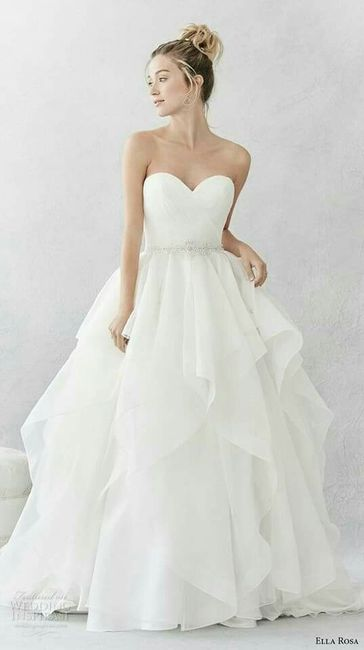 vestidos de novia con falda en capas - foro moda nupcial - bodas.mx