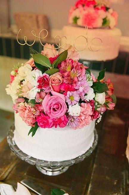 Pasteles con un toque floral 🍰🌼🌻🌷🌹 1