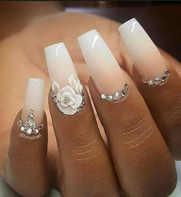 Lindas uñas en tu boda 11