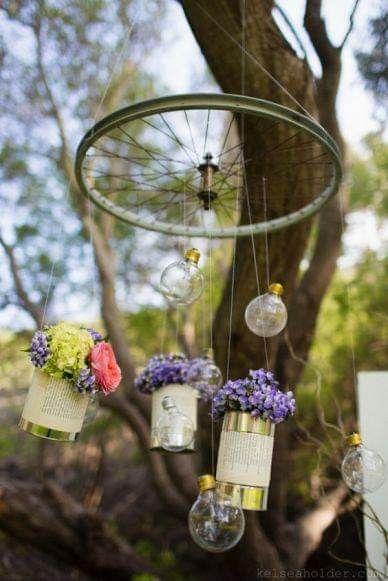 Utiliza ruedas como decoración 5