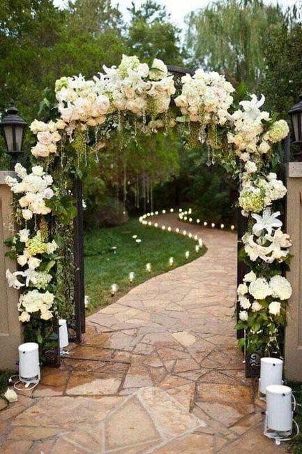 Románticas ideas para una boda en jardín 1
