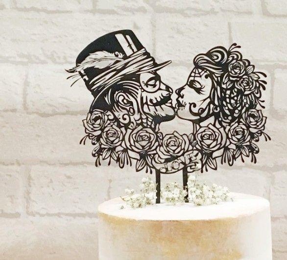 Cake topper con calaveras 💀💀 11
