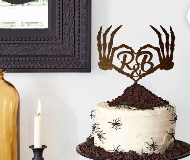 Cake topper con calaveras 💀💀 13